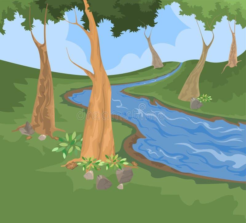 Download Fundo Da Natureza Da Angra Do Ambiente E Do Rio Ilustração Stock - Ilustração de cenário, selvagem: 65581094