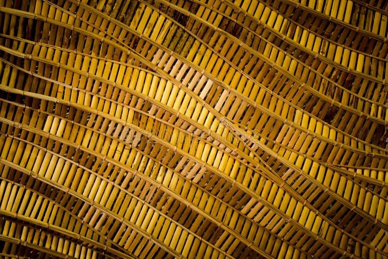 Fundo da natureza do surfa marrom do bambu da textura do weave do artesanato fotografia de stock
