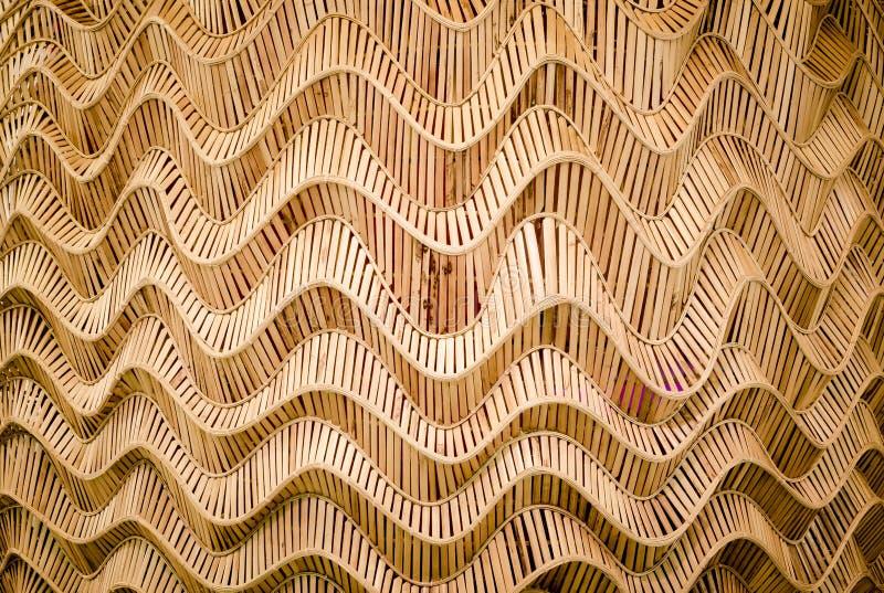 Fundo da natureza do surfa marrom do bambu da textura do weave do artesanato imagens de stock royalty free