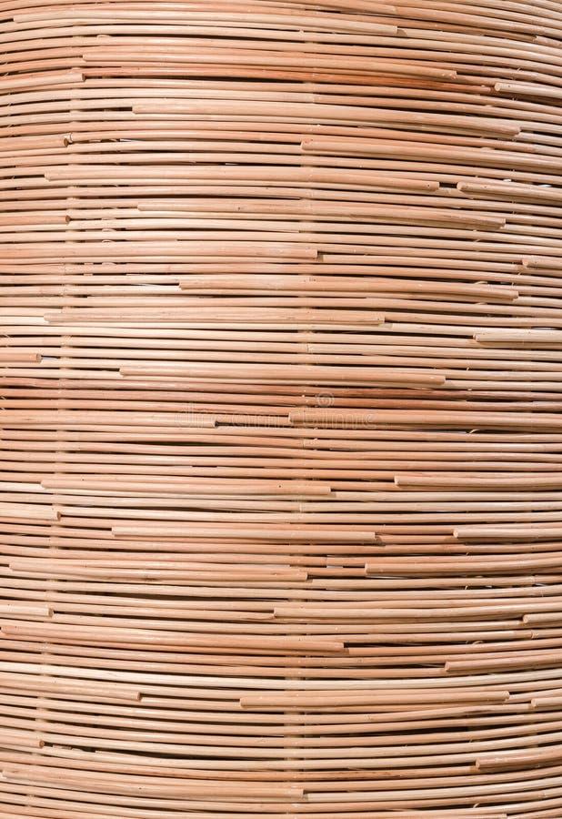 Fundo da natureza do surfa marrom do rattan da textura do weave do artesanato imagem de stock royalty free