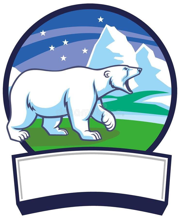 Fundo da natureza do urso polar e do gelo ilustração do vetor