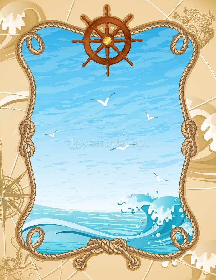 Fundo da navigação ilustração royalty free