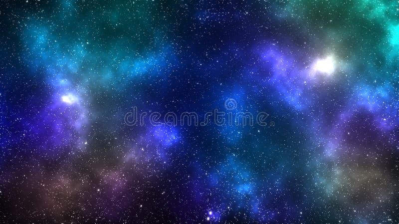 Fundo da nebulosa do espaço da galáxia fotografia de stock
