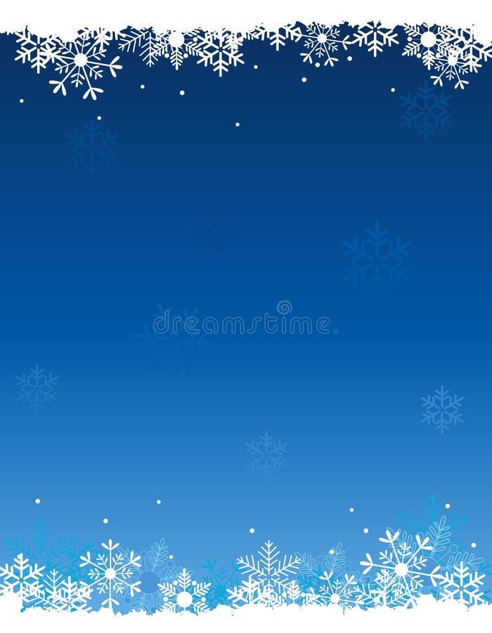 Fundo da neve ilustração royalty free