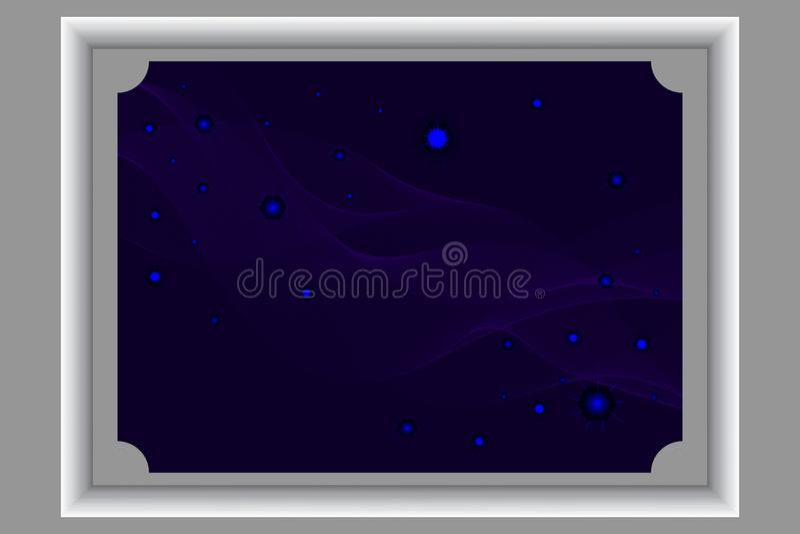 Fundo da noite com estrelas fotos de stock