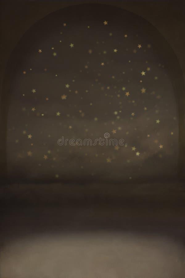 Fundo da noite com estrelas ilustração royalty free