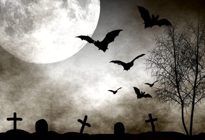 Fundo da noite de Halloween ilustração royalty free