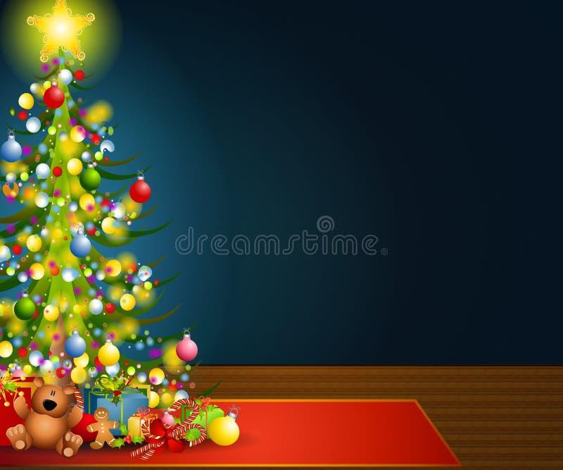 Fundo da Noite de Natal ilustração do vetor