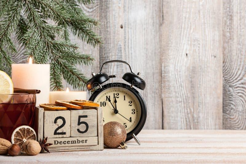 Fundo da Noite de Natal imagem de stock