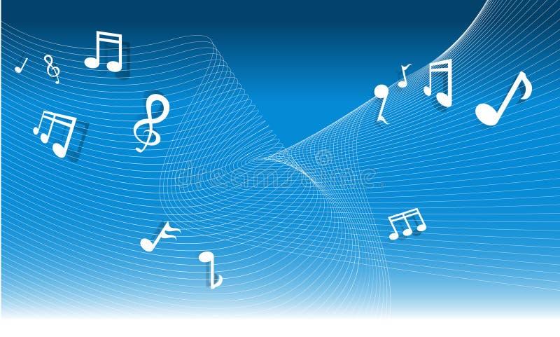 Fundo da nota da música ilustração stock