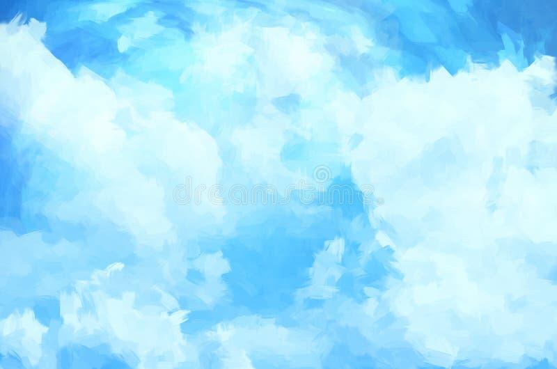 Fundo da nuvem ilustração royalty free