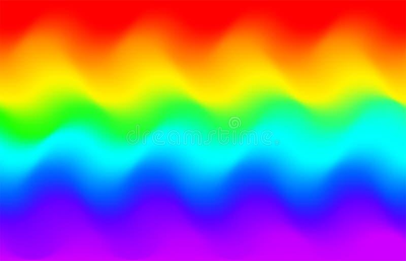 Fundo da onda do arco-íris Teste padrão da galáxia do unicórnio da sereia ilustração stock