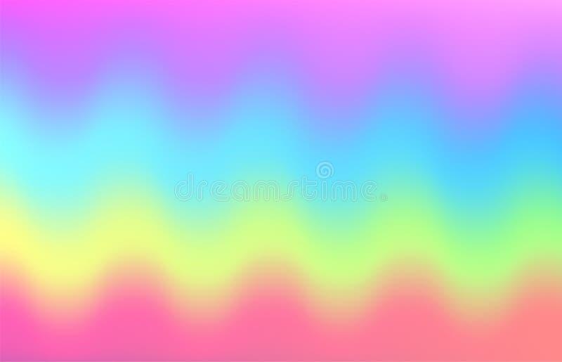 Fundo da onda do arco-íris do unicórnio Teste padrão da galáxia da sereia ilustração do vetor