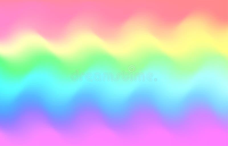 Fundo da onda do arco-íris do unicórnio Teste padrão da galáxia da sereia ilustração stock