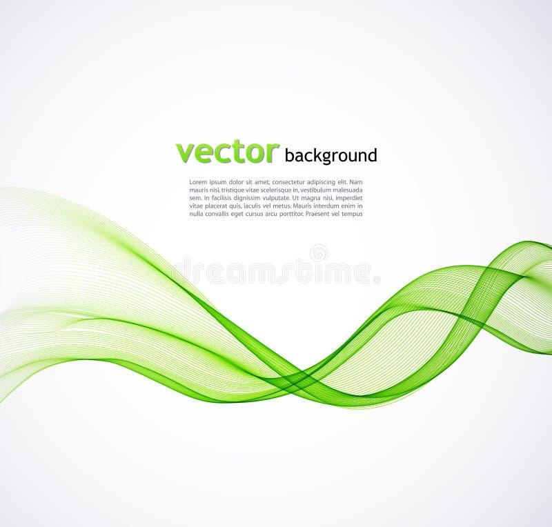 Fundo abstrato da onda verde ilustração stock