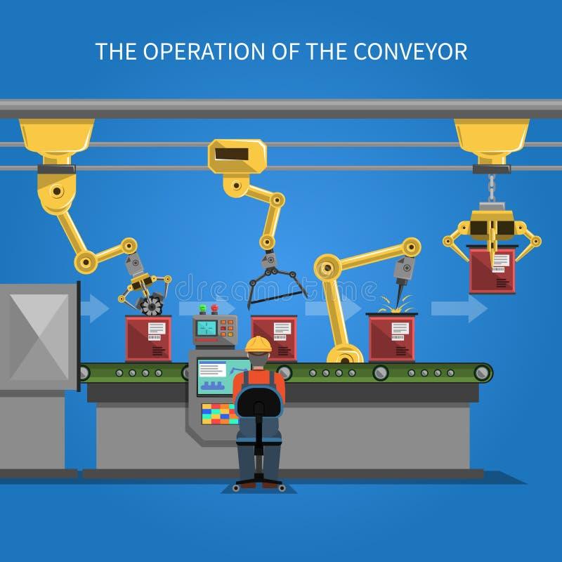 Fundo da operação do robô ilustração stock