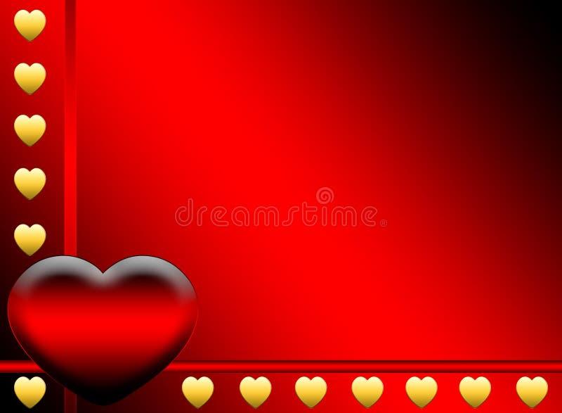 Fundo da página dos corações ilustração stock
