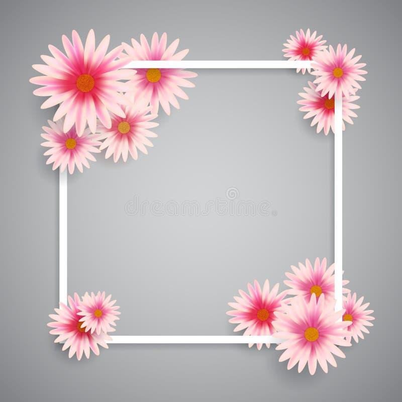 Fundo da Páscoa de flores da mola ilustração stock