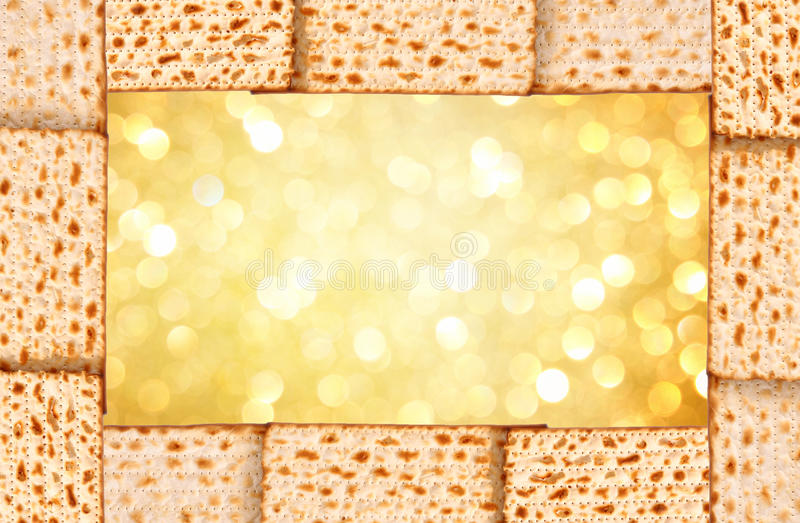 Fundo da páscoa judaica. matzoh fotografia de stock