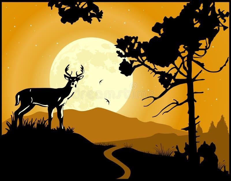 Fundo da paisagem ilustração royalty free