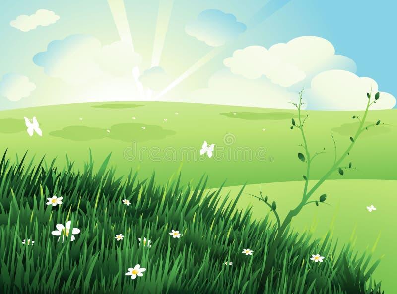 Fundo da paisagem da natureza ilustração royalty free