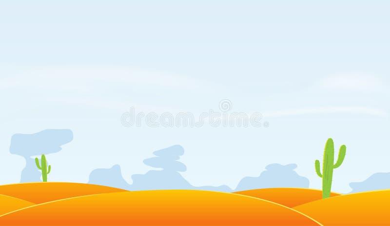 Fundo da paisagem do deserto ilustração stock