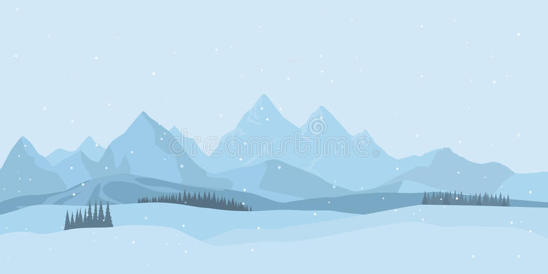Fundo da paisagem do inverno Vetor ilustração do vetor