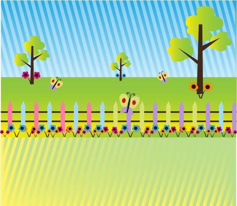 Fundo da paisagem dos desenhos animados ilustração royalty free