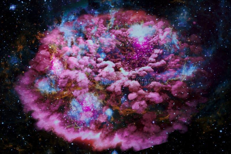 Fundo da paisagem da galáxia do estrangeiro da fantasia fotografia de stock royalty free