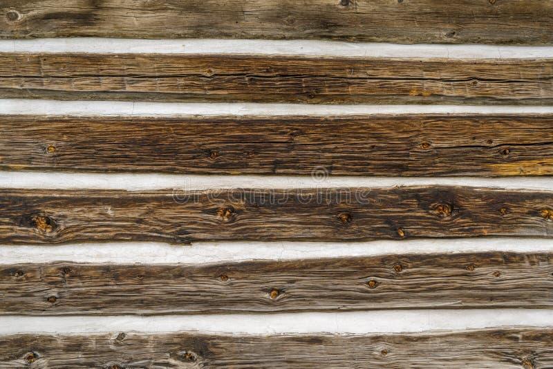 Fundo da parede da cabana rústica de madeira imagens de stock