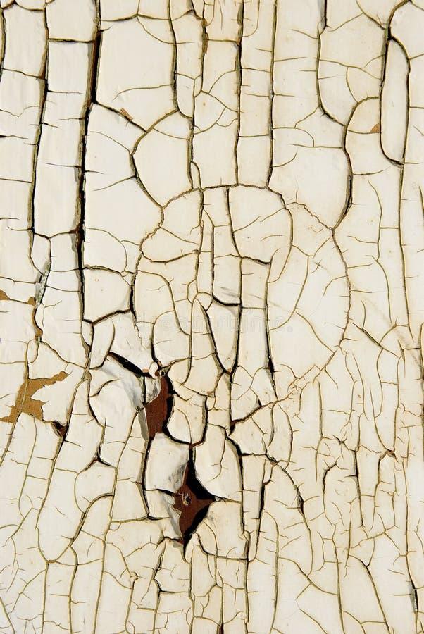 Fundo da parede de madeira da prancha da pintura branca do vintage foto de stock