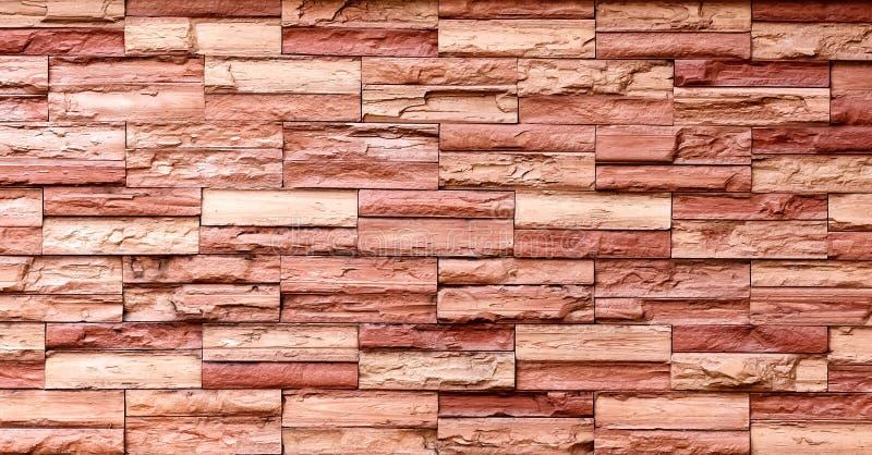 Fundo da parede de tijolo de Brown foto de stock