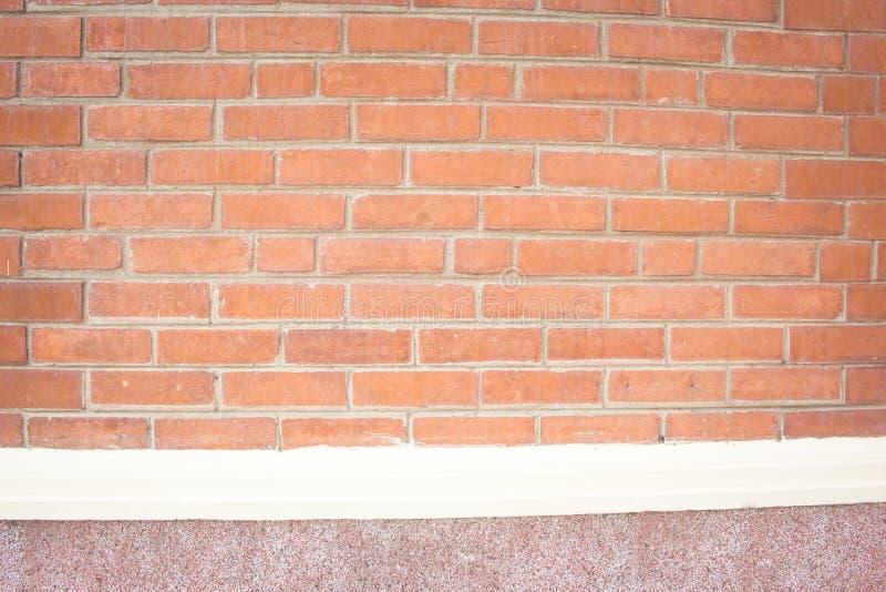Fundo da parede de tijolo de Brown foto de stock royalty free