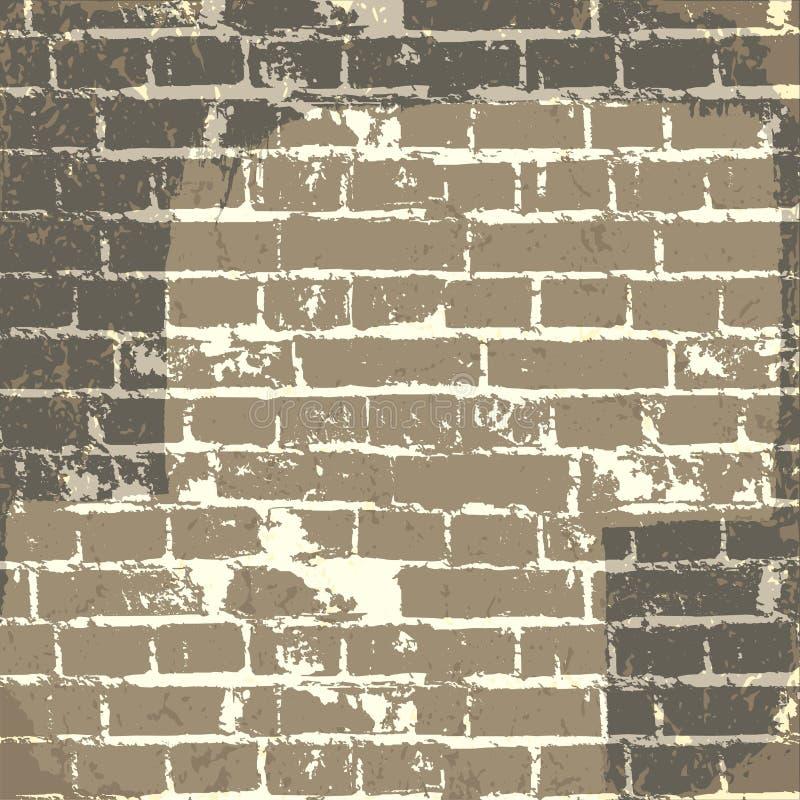 Fundo da parede de tijolo de Grunge ilustração stock