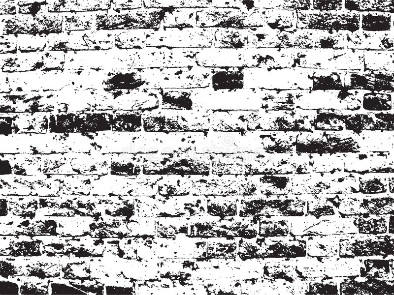 Fundo da parede de tijolo de Grunge ilustração do vetor