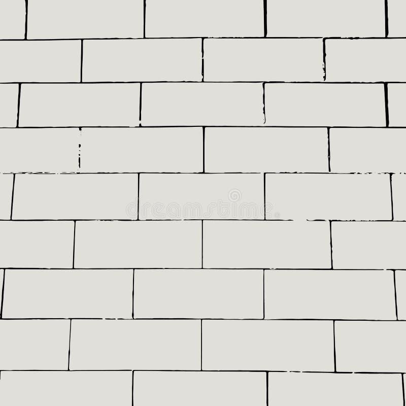 Fundo da parede de tijolo do vetor Teste padrão vazio do grunge ilustração stock