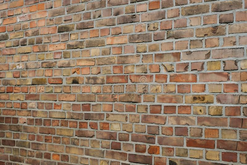Fundo da parede de tijolo - perspectiva das pedras do tijolo fotos de stock
