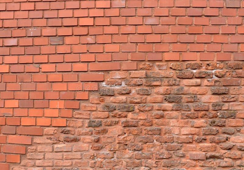 Fundo da parede de tijolo vermelho fotos de stock royalty free