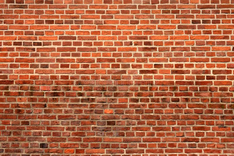 Fundo da parede de tijolo vermelho fotografia de stock royalty free