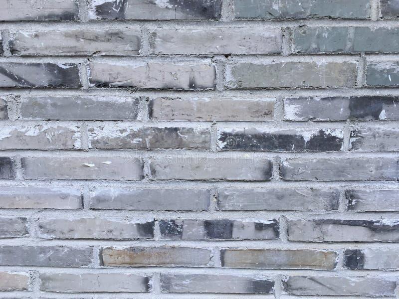 Fundo da parede de tijolos velha, textura cinzenta do grunge imagens de stock royalty free