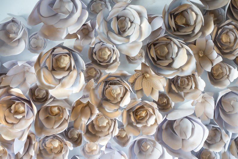 Fundo da parede do contexto do casamento de papel da flor foto de stock royalty free