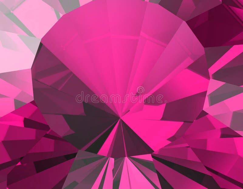 Fundo da pedra preciosa da joia ruby ilustração stock