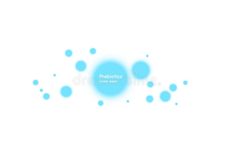 Fundo da pilha Biologia, fundo da ciência com pilhas Fundo da biologia Ilustração abstrata das pilhas do vetor ilustração stock