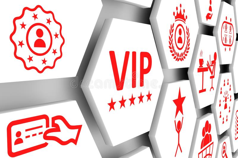 Fundo da pilha do conceito do VIP ilustração stock
