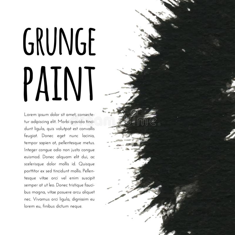 Fundo da pintura de Grunge Ilustração do vetor para sua água fresca de design ilustração stock