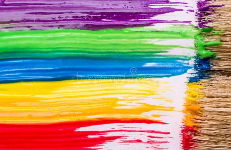 Fundo da pintura do arco-íris fotos de stock royalty free