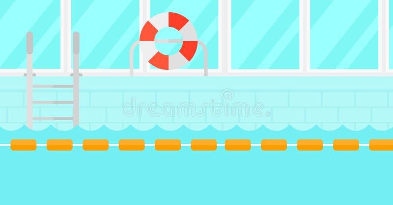 Fundo da piscina ilustração stock