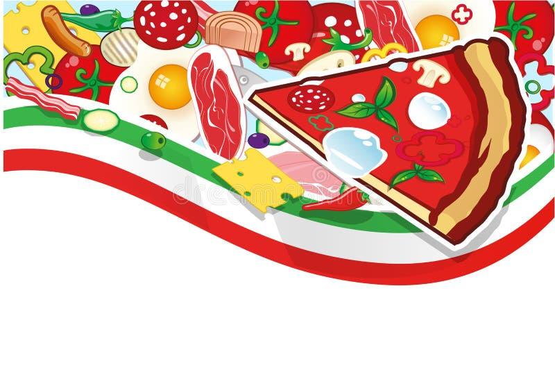 Fundo da pizza ilustração stock