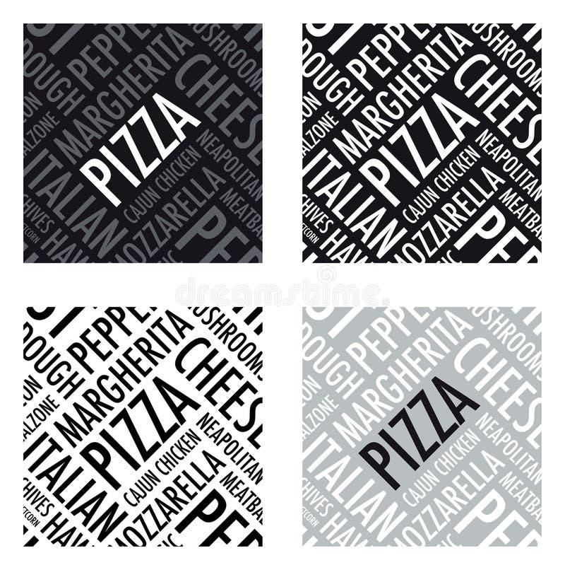 Fundo da pizza ilustração royalty free
