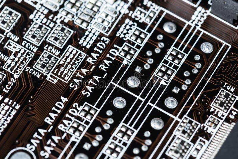 Fundo da placa de circuito foto de stock